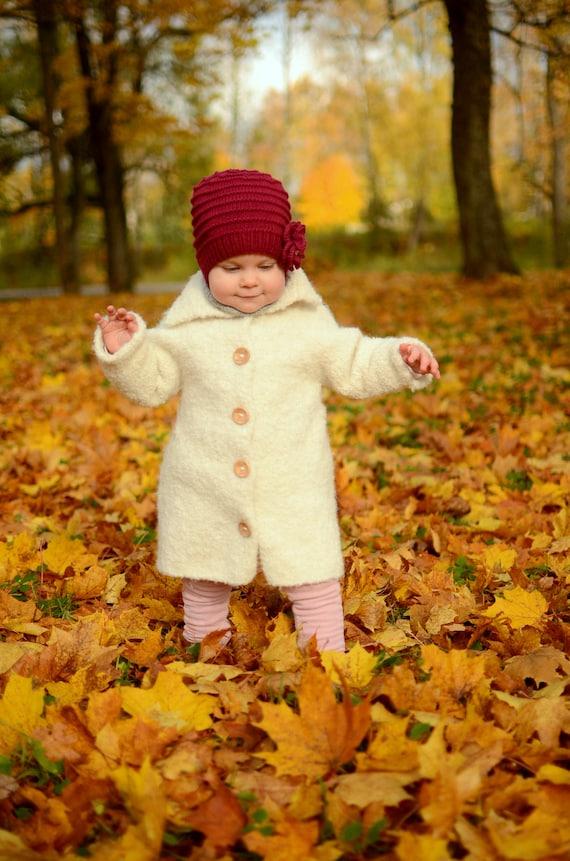 Enfants Tricot Veste Rouge Coloré Nº 3 Taille 98*104 Capuche Pérou Ferme Animaux Alpaga