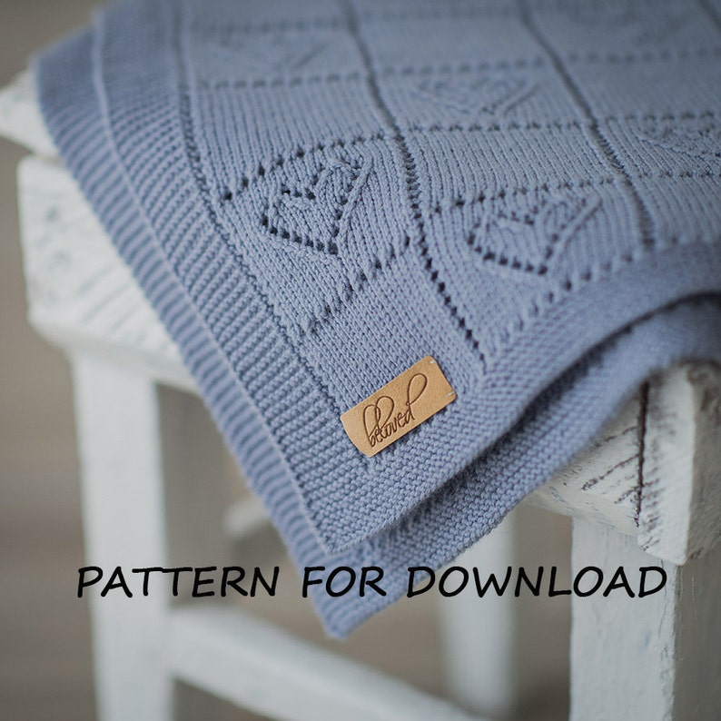 0d3efbfd8 Knit Baby Blanket Pattern in English