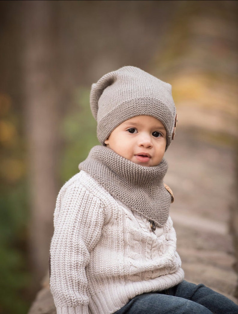 9776462fa160a Knitted Kids Slouchy Hat Kids Slouchy Beanie Toddler Boy