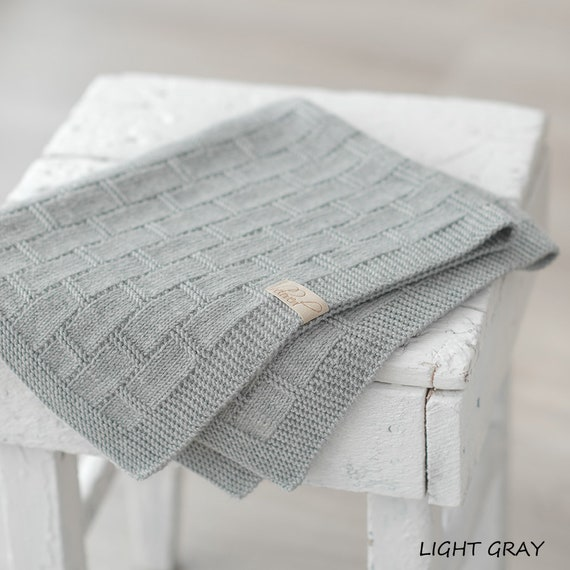 Hand-knitted baby blanket