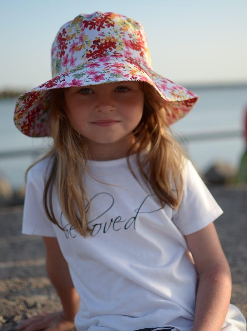 79105dff0 Toddler Girl Summer Hat, Girls Cotton Hat, Toddler Girl Sun Hat, Girls  Cotton Beach Hat, Girls Summer Holiday Hat,Wide Brim Sun Hat For Girl