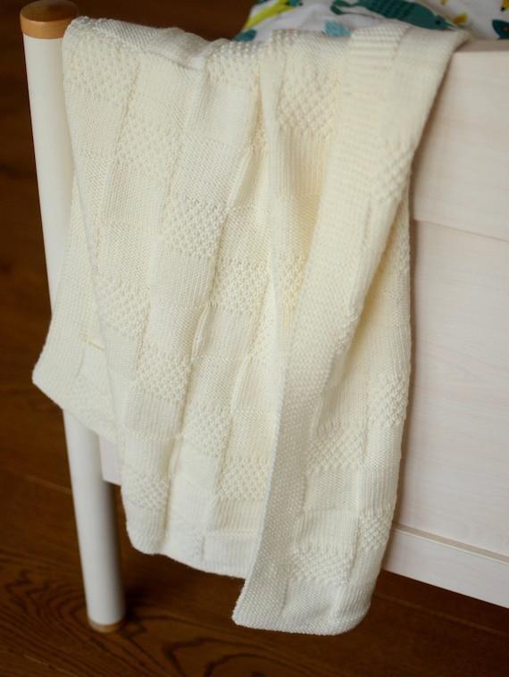 Punto de la manta del bebé manta del bebé de lana Merino | Etsy