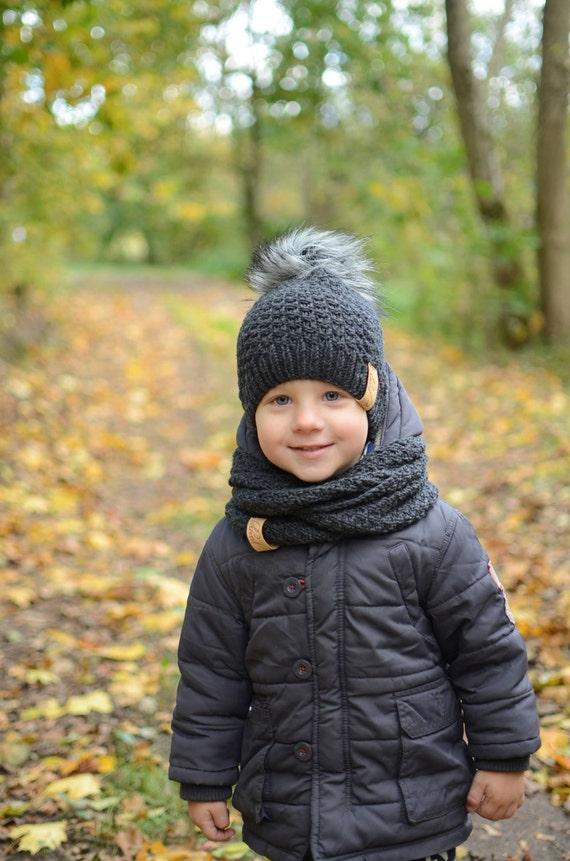 Toddler Boy Knit Hat Wool Baby Boy Hat Toddler Boy Winter  4432e52a54c