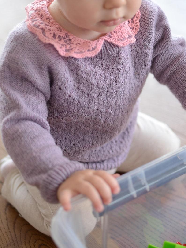 594821443 Hand Knitted Baby Sweater Merino Wool Baby Girl Sweater Hand | Etsy