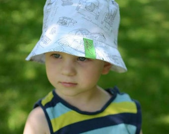 Baby Boy Bucket Hat, Toddler Boy Sun Hat With Brim, Cotton Boys Summer Hat, Kids Bucket Hat, Baby Summer Sun Hat, Toddler Boy Beach Hat