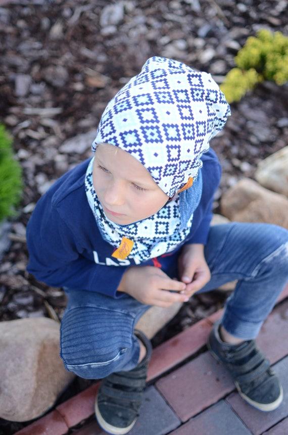 Boys Slouchy Hat Jeans Blue Boys Hat Kids Slouchy Beanie  71a044818db