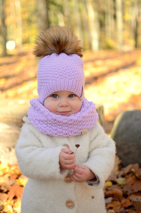 aca9df6f6bc Baby Girl Winter Hat Toddler Girl Winter Hat Knitted Girls