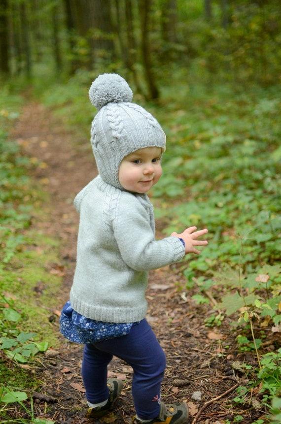 Maglia bambino berretto maglia bambini inverno Beanie grigio  5abad474dcf5