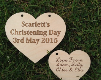 Christening Day Heart With Gift Tag