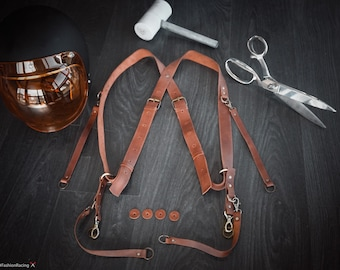 Multi-Camera Leather Harness / Photographer leather strap for three cameras / Money Maker Camera Harness / Strong Double Triple Camera Strap