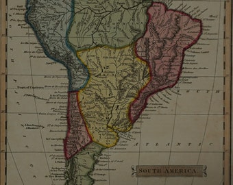 1814  J Russell Map of South America