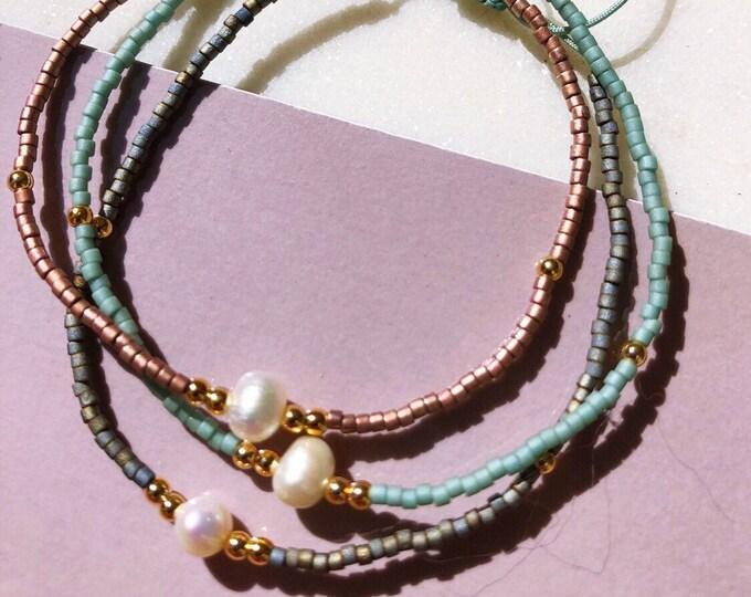 Delicate Myuki beaded bracelet in different colours size adjustable