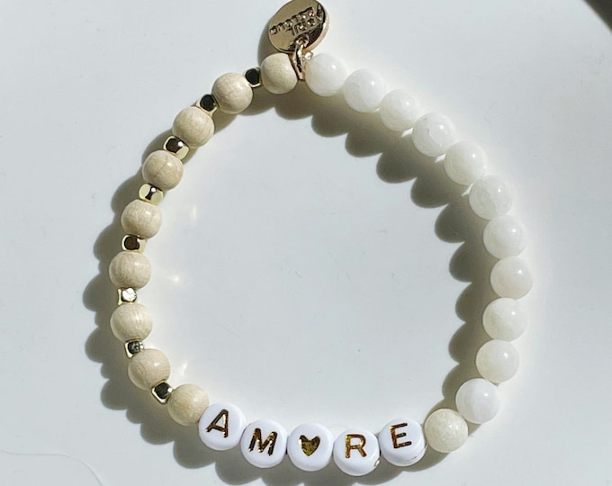 AMORE Jade off white Bracelet by April & Cloud
