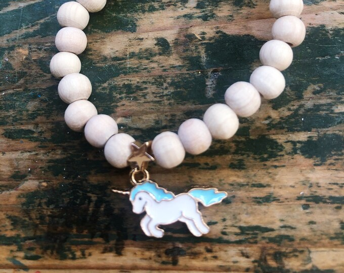 Children's bracelet unicorn blue