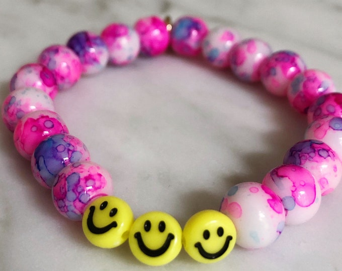 SMILEY TIE DYE Bracelet by April & Cloud