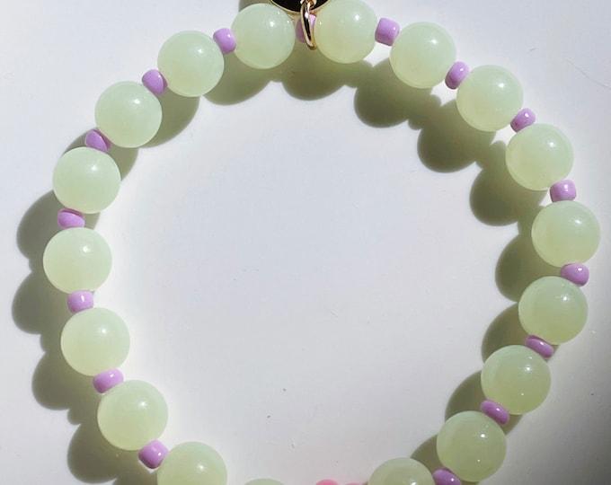 "GREEN DAISY"" colorful summer bracelet"