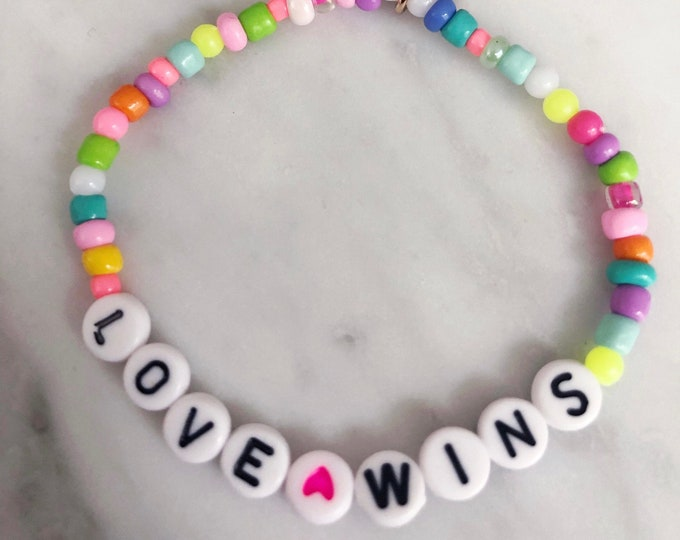LOVE WINS colorful motivation allotment bracelet