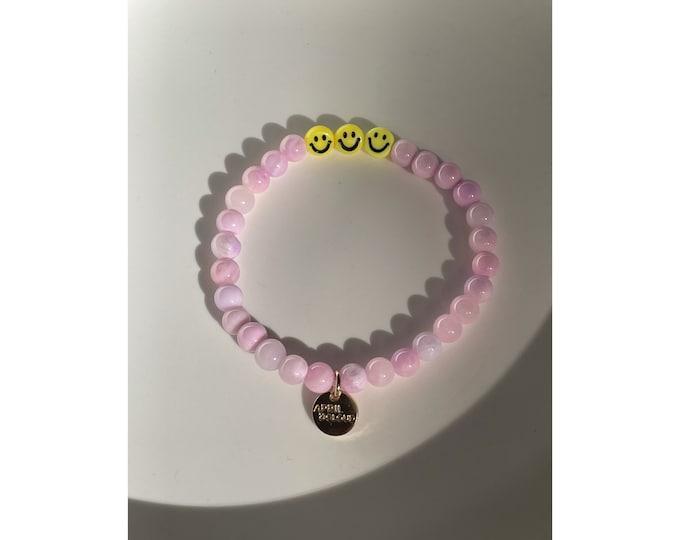 SMILE Bracelet Lilac from April & Cloud