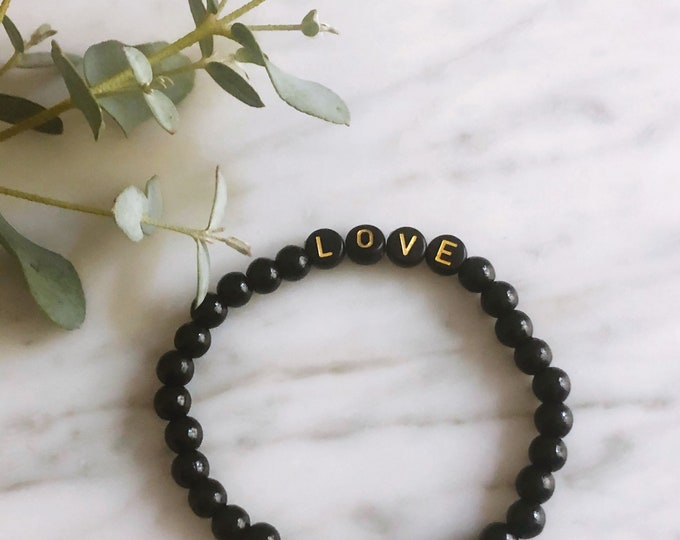 LOVE bracelet black gold