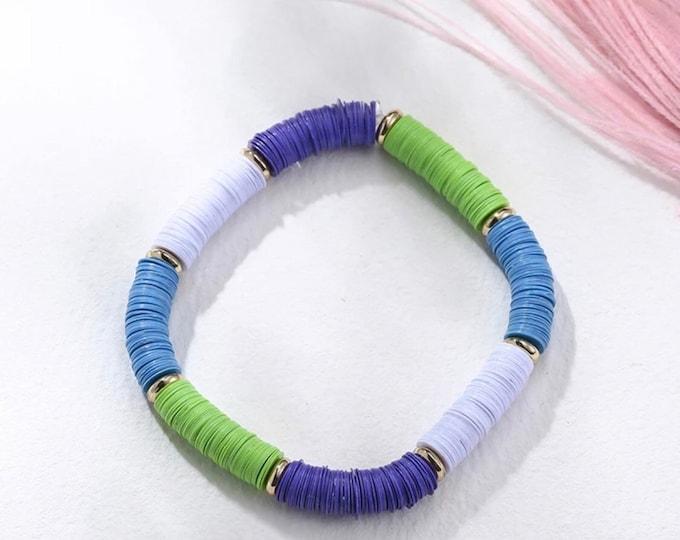 Pailette bracelet green-blue