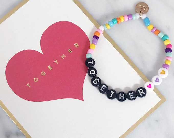 TOGETHER colorful motivation bracelet