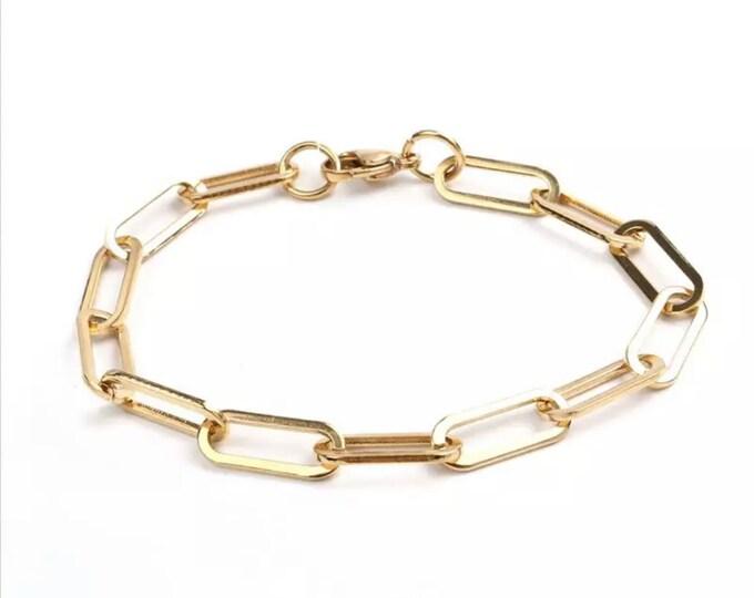 SOLEA link bracelet stainless steel gold