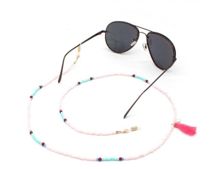 Eyewear necklace beads colorful
