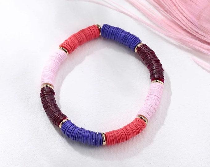 Sequin bracelet coral blue