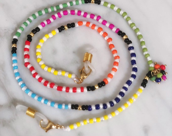 Mask necklace & eyewear chain colorful beads