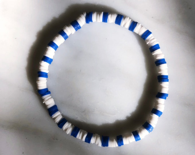 April & Cloud Bracelet WHITE BLUE