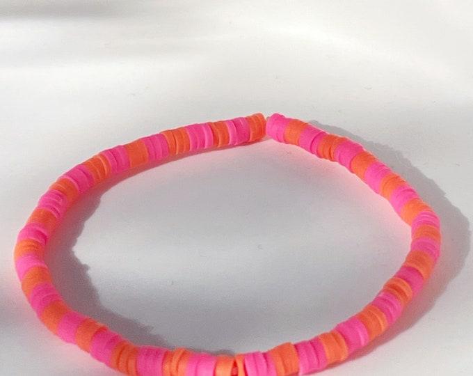 April & Cloud Bracelet NEON PINK