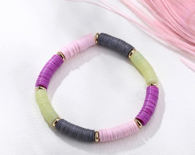 Pailettebracelet bracelet purple grey pink