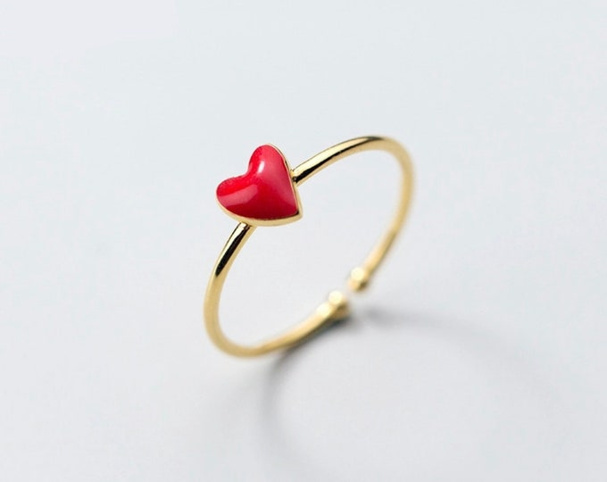 Heart ring size adjustable