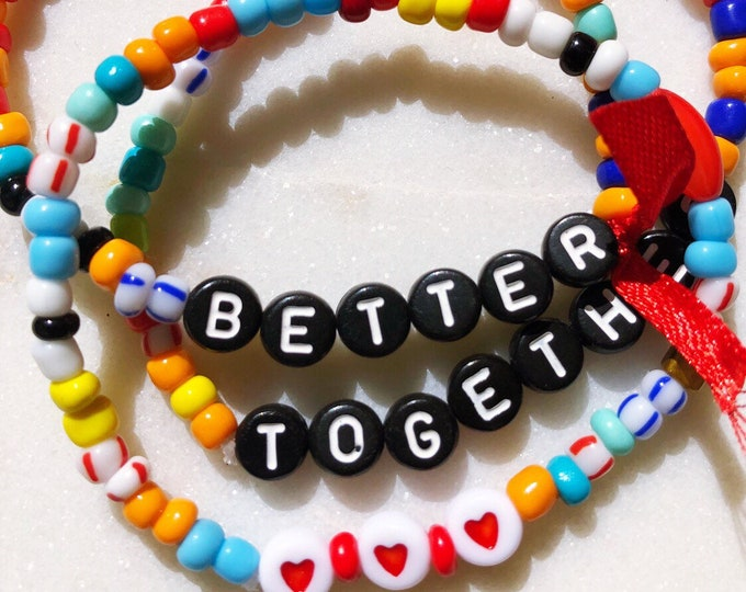 Better together *** Bracelet set colorful beads