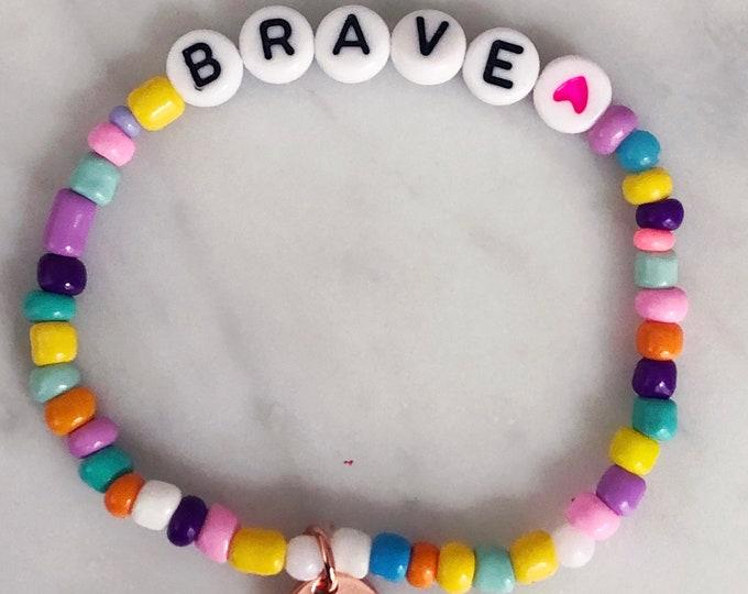 BRAVE colorful motivation allotment bracelet