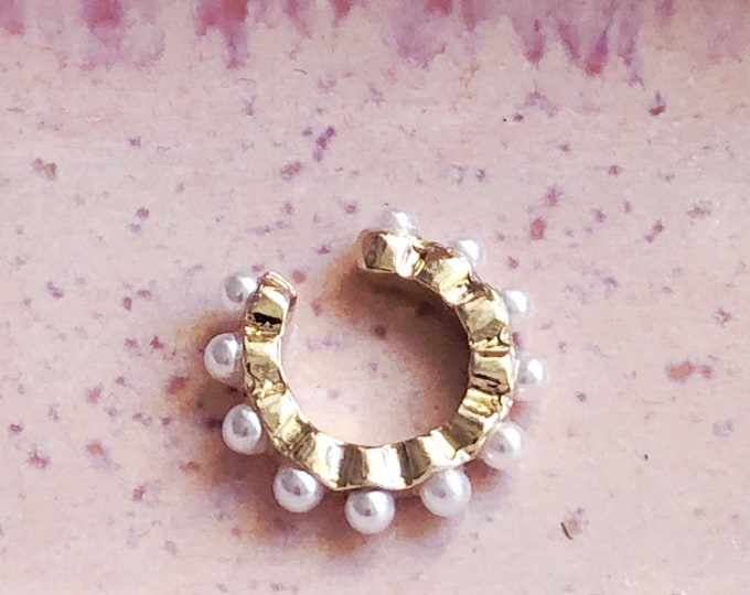Beaded Cuff Ear Clamps
