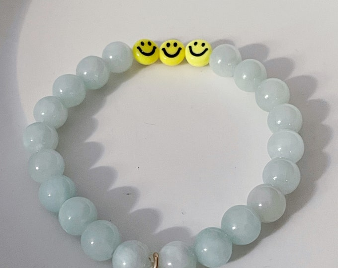 SMILE Bracelet aqua by April & Cloud