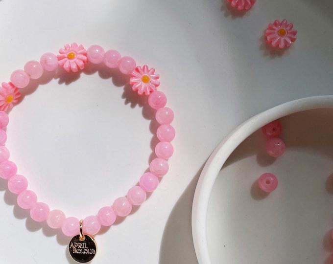 PINK DAISY Bracelet by April & Cloud
