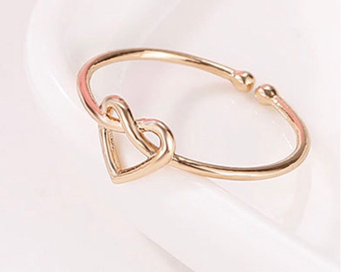 Heart Knot Ring Size Adjustable