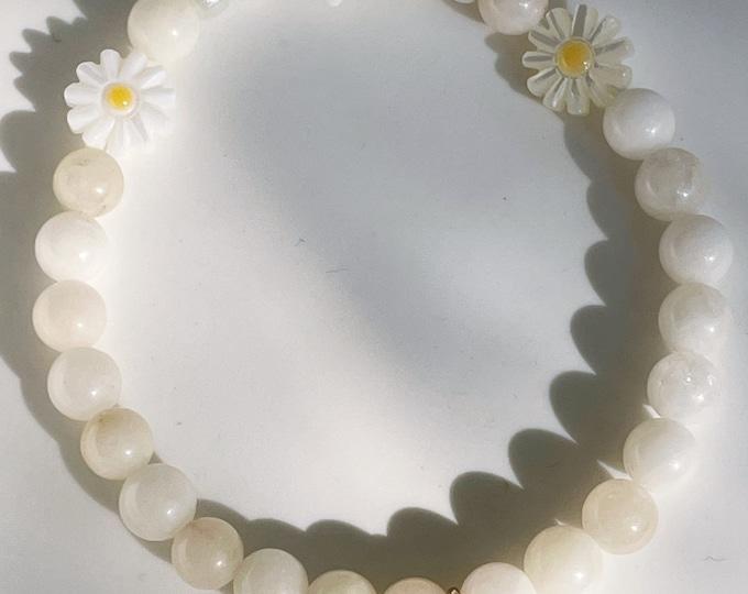 DAISY Jade off white bracelet by April & Cloud