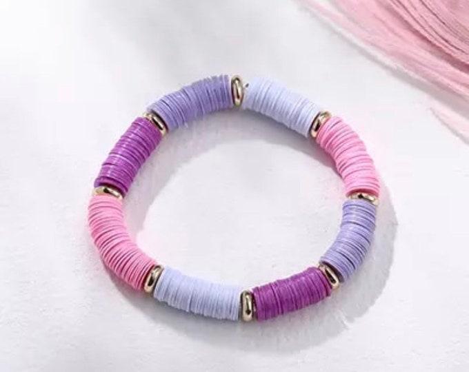 Sequin bracelet purple pink