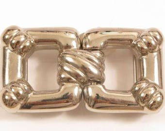 990aea6a022d Boucle de ceinture carré lourd signé Gay Boyer 34 ton argent Vintage hommes    Y643