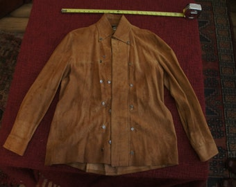 RARE!! John Stephen of Carnaby St. MOD ORIGINAL, 1967 designer deerskin shirt