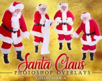 Christmas Overlay Christmas Overlay 40 Santa Overlays Santa PNGs Santa PNG 40 Santa Overlays BIG BUNDLE