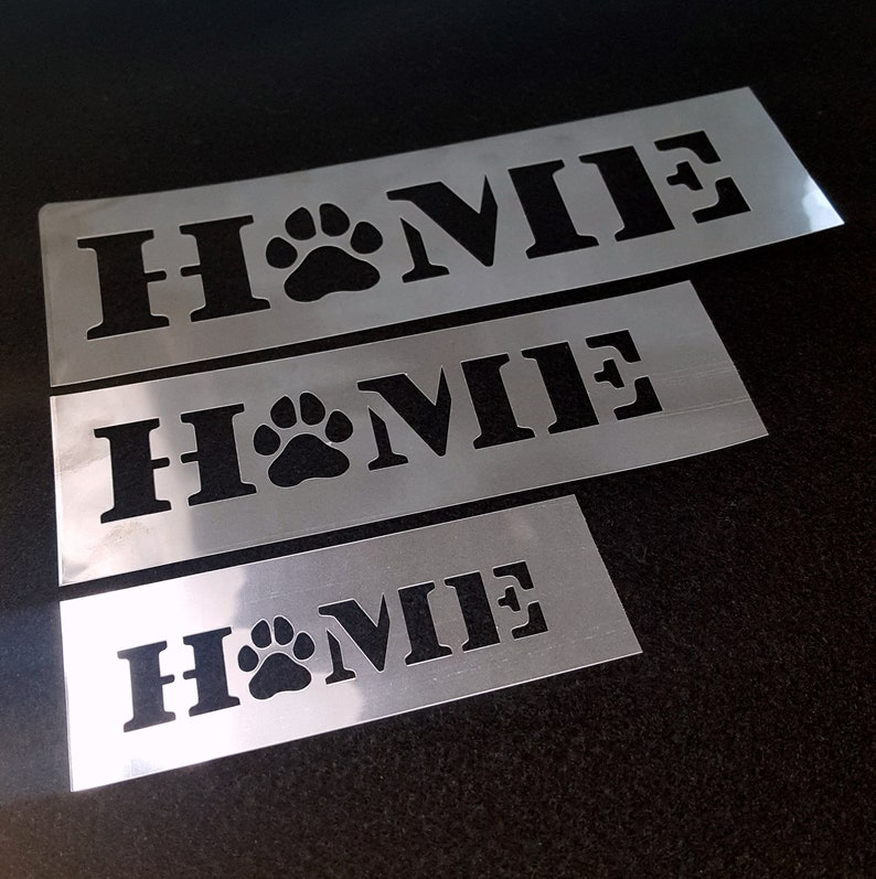 Home with paw stencil home stencil dog lover gift diy home image 0