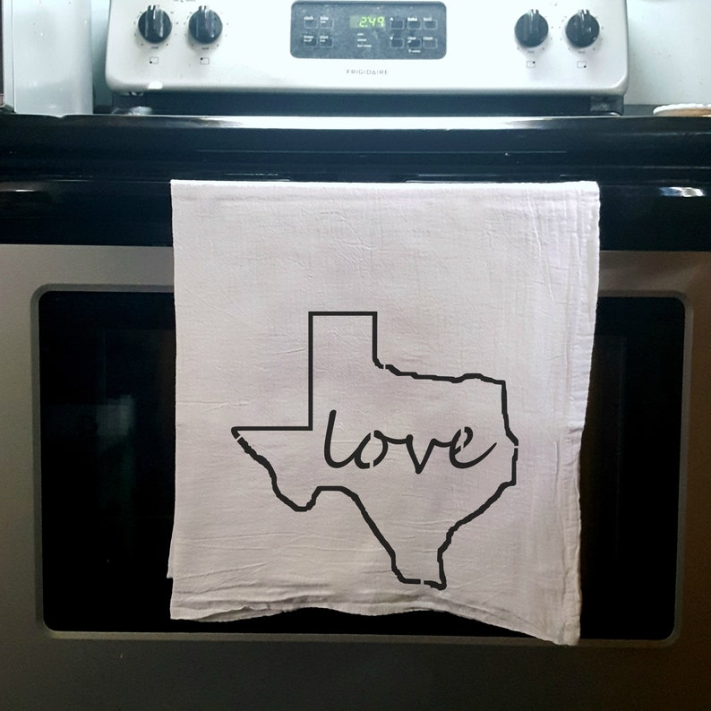 Love state outline flour sack towel home state love state image 0
