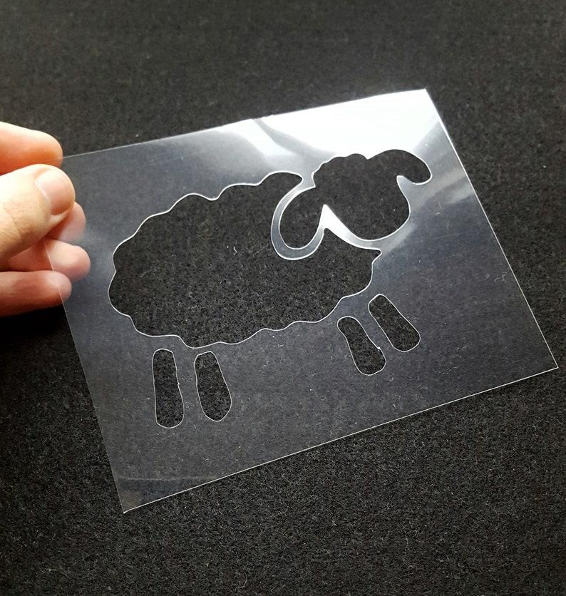 Sheep stencil  DIY stencil projects  animal stencil  lamb image 0