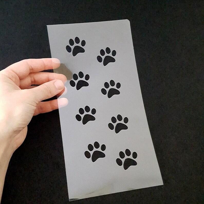Paw pattern stencil  DIY stencil projects  dog paw stencil  image 0