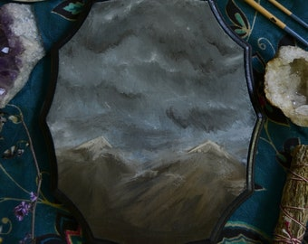 Thor's Pass Original Oil Painting on Wood Plaque