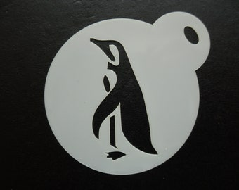 Penguin  and Heart Stencil A4//A5//A6